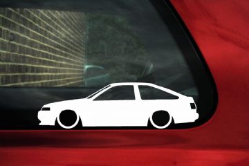 2x Low car outline stickers - Toyota Sprinter Trueno GT Apex AE86